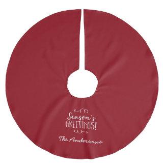 赤い季節の挨拶 ブラッシュドポリエステルツリースカート