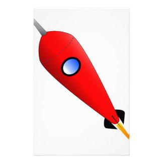 赤い宇宙ロケット 便箋