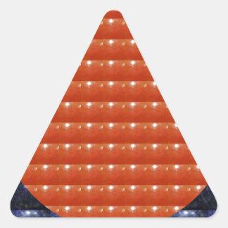 赤い宝石の点の円円形ディスクお祝い 三角形シール