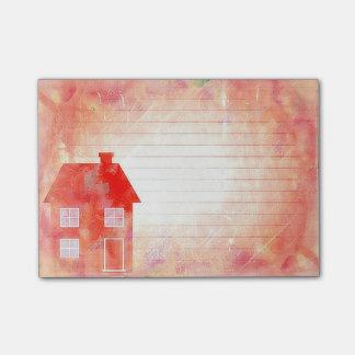 赤い家の後it®ノート4 x 3 ポストイット