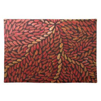 赤い小さい葉 ランチョンマット