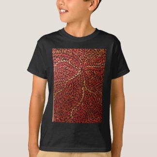 赤い小さい葉 Tシャツ
