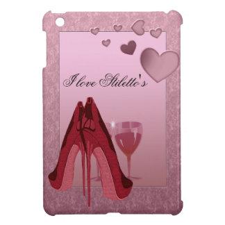 赤い小剣およびピンクのハート iPad MINIケース