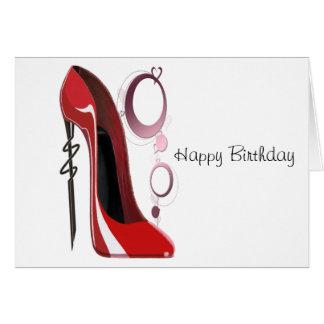 赤い小剣の靴および腕輪の芸術 カード
