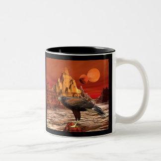 赤い山のマグのタカ ツートーンマグカップ