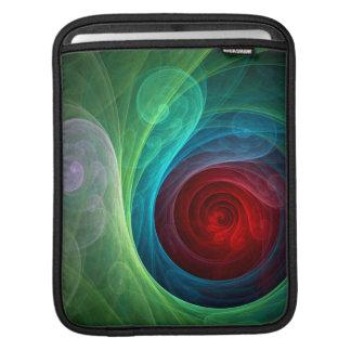 赤い嵐の抽象美術のiPadの袖 iPadスリーブ