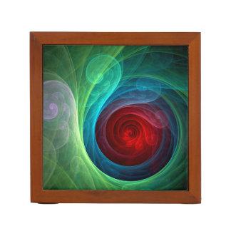 赤い嵐の抽象美術 ペンスタンド