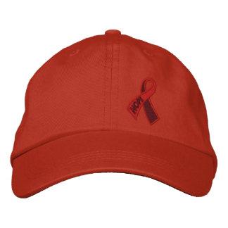 赤い希望のエイズHIVのリボンの認識度 刺繍入りキャップ