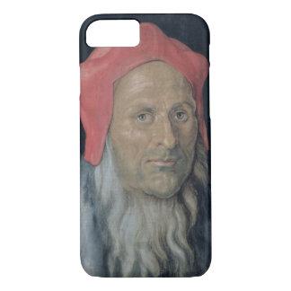 赤い帽子の髭がある人のポートレート、1520年(油 iPhone 8/7ケース