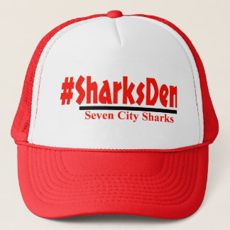 -赤い帽子を#SharksDen キャップ