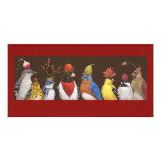 赤い帽子夜写真カード カスタマイズ写真カード