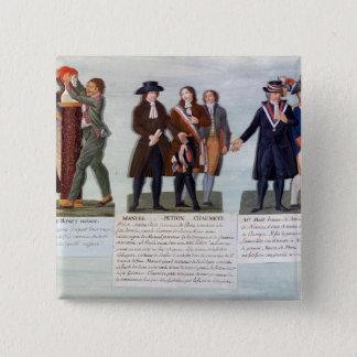 赤い帽子、Manuel、Petionの発明 5.1cm 正方形バッジ