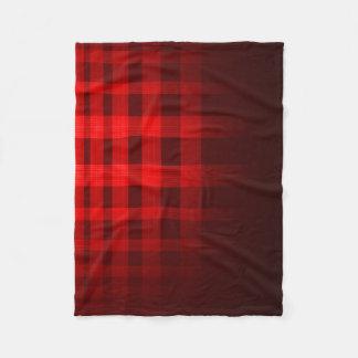 赤い幽霊のタータンチェックパターン フリースブランケット