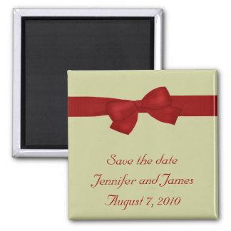 赤い弓保存日付の磁石 マグネット