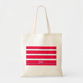 赤い急激な突きの創造のイメージ トートバッグ