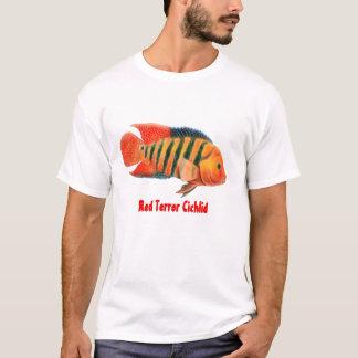 赤い恐怖のFestaeのシクリッドのTシャツ Tシャツ