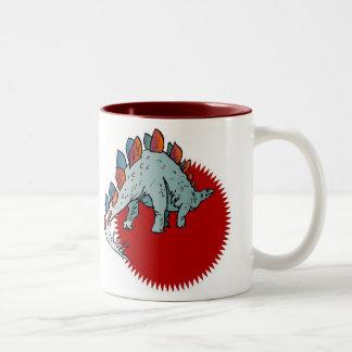 赤い恐竜 ツートーンマグカップ