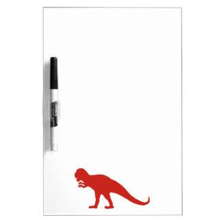 赤い恐竜 ホワイトボード