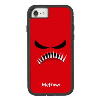 赤い悪のまなざしおよび鋭い歯を搭載する怒っているモンスター Case-Mate TOUGH EXTREME iPhone 8/7ケース