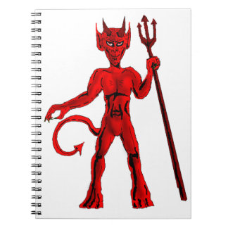 赤い悪魔およびピッチのフォーク ノートブック