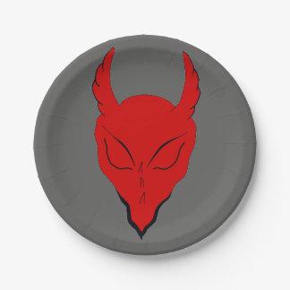 赤い悪魔の紙のパーティーのプレート ペーパープレート
