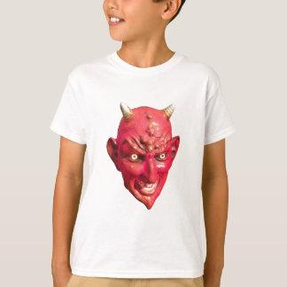 赤い悪魔のSatanの鬼の地獄の角 Tシャツ