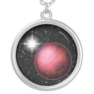 赤い惑星の宇宙のネックレス カスタムジュエリー