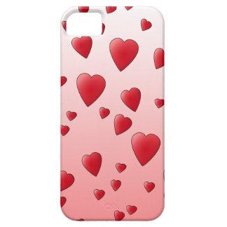 赤い愛ハートパターン iPhone SE/5/5s ケース