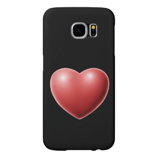 赤い愛ハートロマンチックな装置場合 SAMSUNG GALAXY S6 ケース