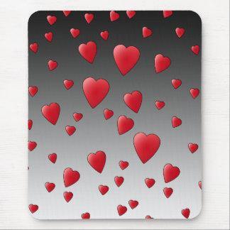 赤い愛ハート。 パターン マウスパッド