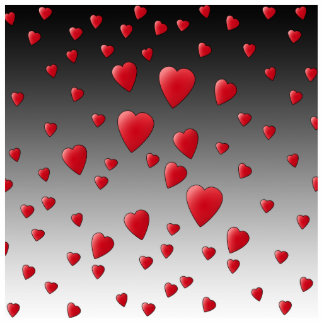 赤い愛ハート。 パターン 写真彫刻マグネット