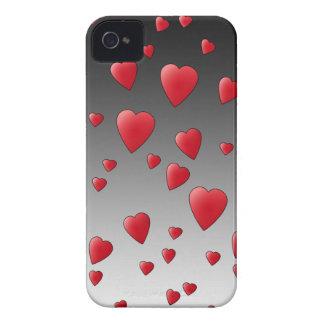 赤い愛ハート。 パターン Case-Mate iPhone 4 ケース