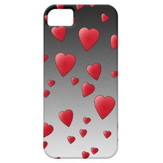 赤い愛ハート。 パターン iPhone SE/5/5s ケース