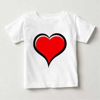赤い愛ハート ベビーTシャツ