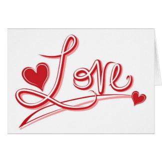 赤い愛ハート-結婚式、婚約 カード
