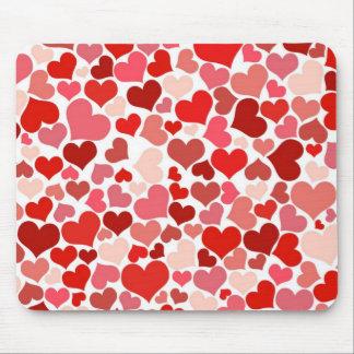 赤い愛ハートv1 マウスパッド