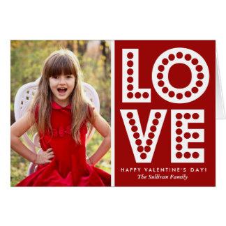 赤い愛玄関ひさしのバレンタインデーカード グリーティングカード