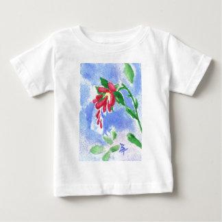 赤い愛花のaceoの乳児のTシャツ ベビーTシャツ