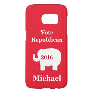 赤い投票共和党員2016の一流の名前入りな赤 SAMSUNG GALAXY S7 ケース