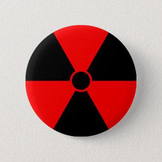 赤い放射の記号 5.7CM 丸型バッジ