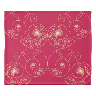 赤い新しい 掛け布団カバー