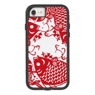 赤い旋回のコイのコイの魚はiPhoneの箱1を分けます Case-Mate Tough Extreme iPhone 8/7ケース