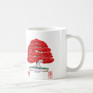 赤い日本のなかえでの盆栽のマグ コーヒーマグカップ