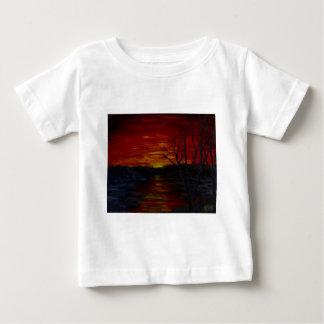 赤い日没1.JPG ベビーTシャツ