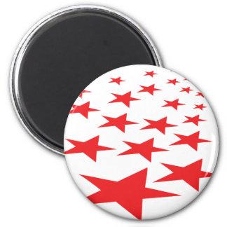 赤い星のカーペット マグネット