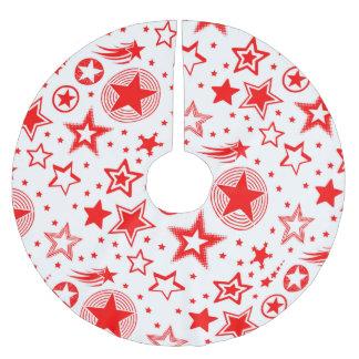 赤い星の入れ墨 + あなたのアイディア ブラッシュドポリエステルツリースカート
