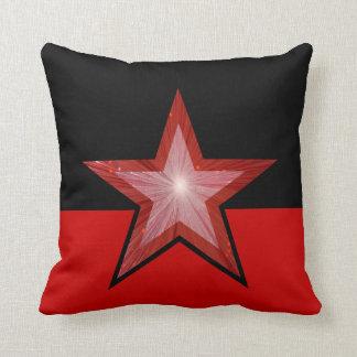 赤い星の装飾用クッションの正方形の赤い黒 クッション