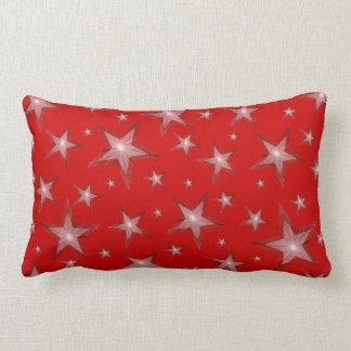 赤い星の「文字」の腰神経の白の背部 ランバークッション
