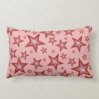 赤い星は装飾用クッションの腰神経の淡いピンクを印刷しました ランバークッション