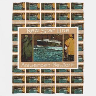 赤い星ライン~アントワーペン新しいヨーク フリースブランケット